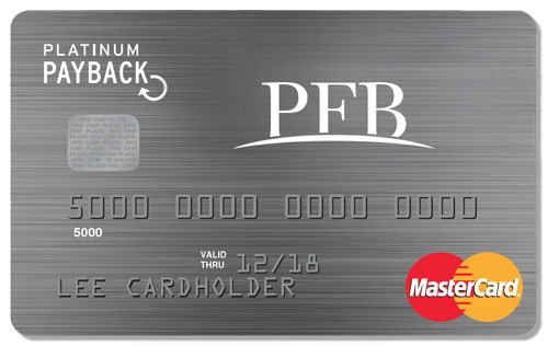 PFB Platinum Payback card